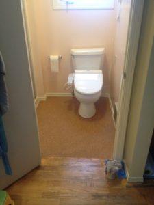 Diy Permanent Bathroom Floor Made With Cheap Cork Underlayment Econscience