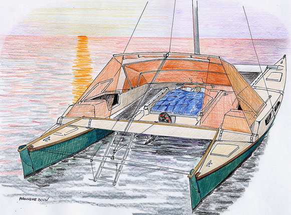 8m Tiki dodger and tent & Mast reinforced with basalt sock u2013 Blogbook of the Tiki 21