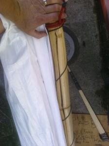 Bamboo spar split