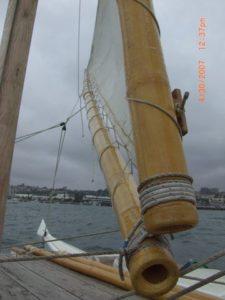 Manurere crab claw tack sailing