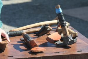 Canoe carving tools.